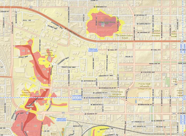 Florida Flood Map.Flooding Emergency Management